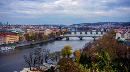 prague bridge : Timelapse of Pragues Bridges at sunrise, Prague, Czech Republic.