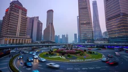 oryantal : Timelapse of Shanghai traffic jam, Shanghai, China.