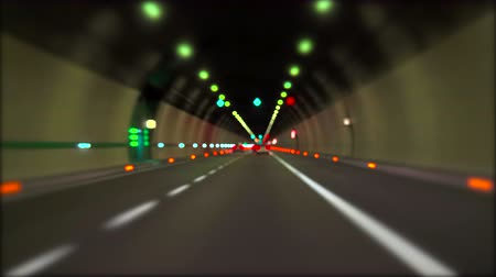 célere : Blurred motion video of Light and cars in a Highway tunnel