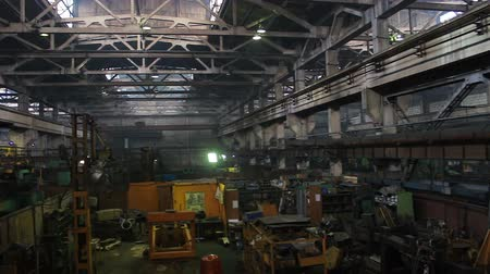 iron pipe : Old Manufacturing building for buldozers equipment