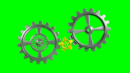 fogaskerék : Cogwheels - Animation - Green Background