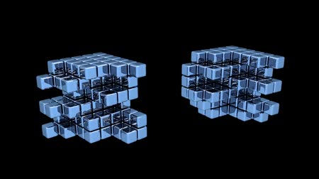 головоломка : Blue Cubes - Assembly - Animation