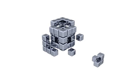 кусок : 3D Cubes - Assembling Parts - Blue