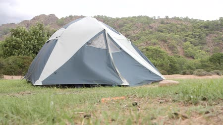 traverse : tourism camp and tent in  mountains