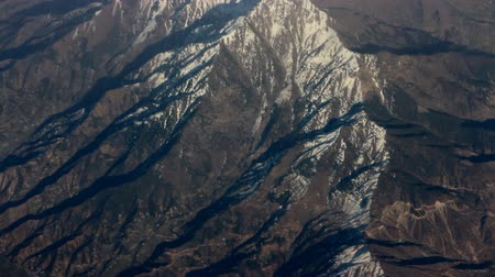 small height : Spurs of Himalayas (Siwalik, Before Himalayas) in middle of spring. View from height of bird flight Stock Footage