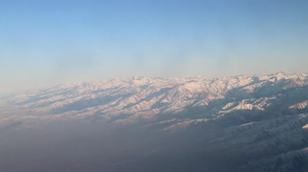 snowfield : Mountains Tien-Shan, Kyrgyzstan. Filming from plane.