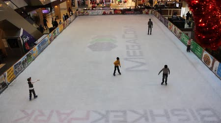 ice skating : BISHKEK, KYRGYZSTAN - March 1, 2016: Bishkek Park, the largest shopping centre in Kyrgyzstan