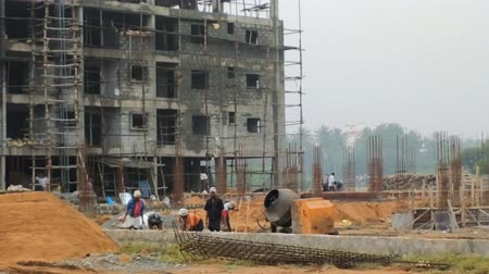 bangalore : India, Karnataka, January 16, 2015: Construction in India. Construction of apartment building