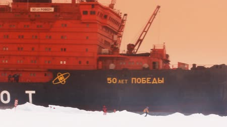 coldness : North pole - 2 July 2016:  Atomic icebreaker - largest icebreaker in world, which can reach North pole. Mission 2016 - exact point of North Pole