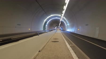 slogger : Tunnel underground passage. Lanes for pedestrians and cyclists, lighting, ventilation system hyper lapse time lapse