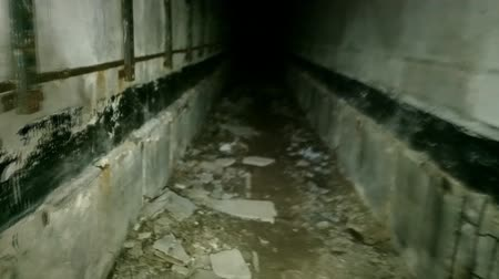 radyoaktif : horror underground room with incredible. passages in heart of hell