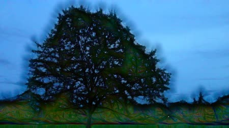 fraktály : Magic tree, fabulous tree. A lonely tree surrounded by a quivering atmosphere. Magic tree, sacred tree. Fantasy art fractals. Object for magic game, computer games, cartoon hero