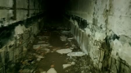 catacomb : horror underground room with incredible. passages in heart of hell