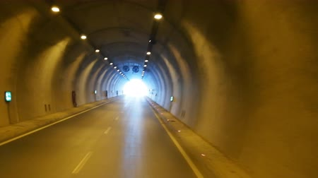 toward : defocused road in tunnel driving background vehicle transportation