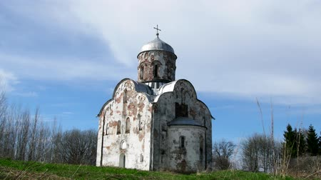 clerical : The Church of St. Nicholas in Lipno, Velikiy Novgorod - Orthodox Church the end of the XIII century of Novgorod stone architecture. Russian middle ages