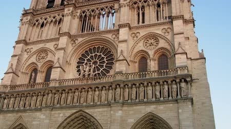 testament : main portal of the Cathedral Notre Dame de Paris. Camera scans from bottom to top