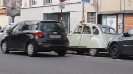 collectible : Dijon, France - 15.09.2017: Old Citroen car. May be CITROÃ‹N 2CV 1955