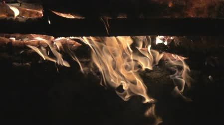 迷信 : Burning fire, flames. Super slow motion 1000 fps 動画素材