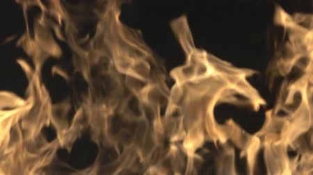 superstition : Smoke from the fire rises rings, curls and creates beautiful shapes as daydream, illusion. Super slow motion 1000 fps