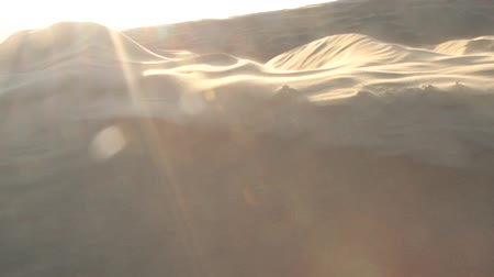 grit : Wind rips sand from the crest of the dune. Great Indian desert Thar