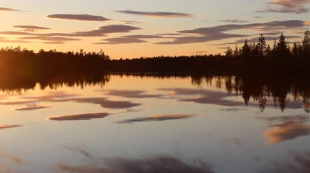 father of waters : Charming midnight in Lapland at the birthplace of Santa Claus. Polar night, midnight sun