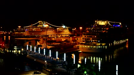 ing : Cruise ship docked in harbor at night, Gran Canaria, Spain