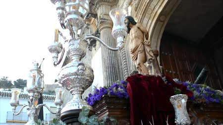 marys : Holy week procession in Spain, Andalusia. Christ at the Column, Our Lady of the Forsaken