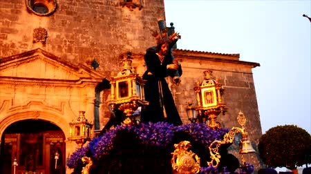 marys : Holy week procession in Spain, Andalusia. Nazarene Jesus, Our Lady of Sorrows.