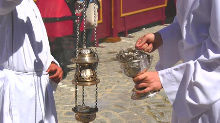santo : Spanish holy week processions, Easter Week Semana Santa Stock Footage