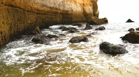 portugese : Lagoa caves, beaches and coast and views, Algarve, Portugal (4K) Stock Footage