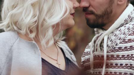 human face : HD Close up shot of couple looking into each other