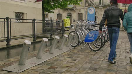ilan : General view of the city bicycles for rent station