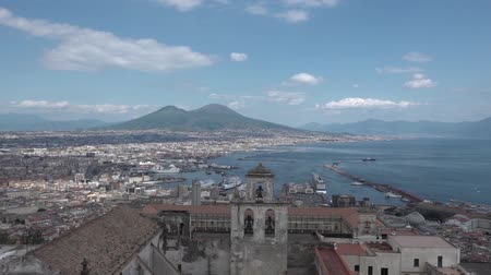 neapol : Panorama of Naples and Vesuvius Wideo