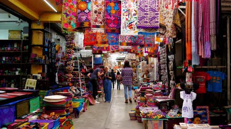 suvenýry : Traditional style Mexican market of handcrafts and folk art in Mexico City