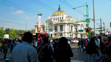 cdmx : Intersection of Eje Central in front of Palace of Fine Arts in Mexico City