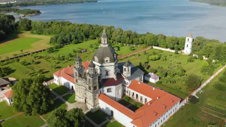 litvánia : Aerial view of Pazaislis Monastery and Church on summer day.