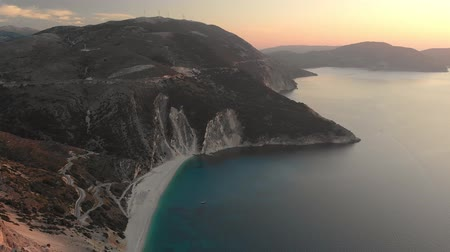 hrubý : Aerial view of Myrtos beach, the most famous and beautiful beach of Kefalonia