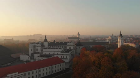 litvánia : Aerial morning view of Vilnius Cathedral and National museum of Lithuania