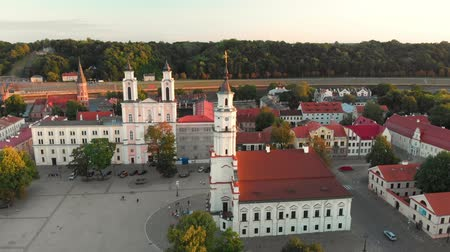 восстановлено : Aerial view of Kaunas Town Hall Square