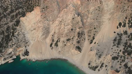 stabilní : Scenic aerial view of coastline of Kefalonia during sunset