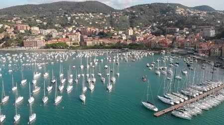 Лигурия : Aerial view of town of Lerici, part of the Italian Rivera