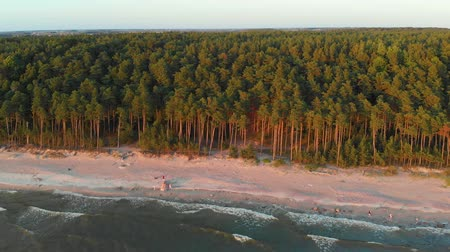 baltık denizi : Aerial view of the Dutchmans Cap, the highest scarp in Lithuanian seaside