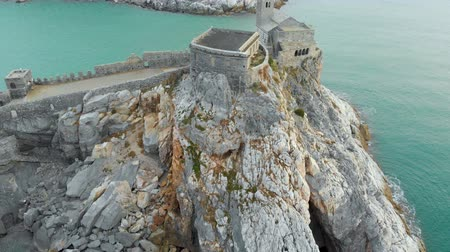 Лигурия : Aerial view of the famouse Church of Saint Peter in Porto Venere