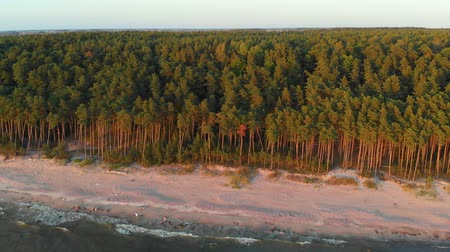 klaipeda : Aerial view of the Dutchmans Cap, the highest scarp in Lithuanian seaside
