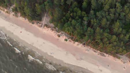 Aerial view of the Dutchmans Cap, the highest scarp in Lithuanian seaside