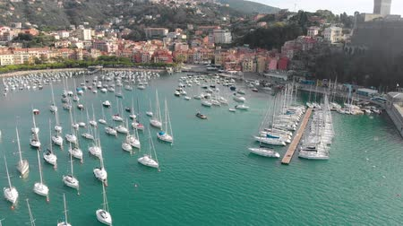Aerial view of town of Lerici, part of the Italian Rivera