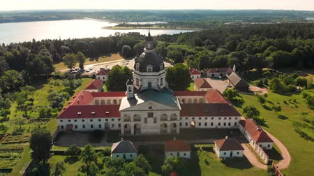 Aerial view of Pazaislis Monastery and Church on summer day.
