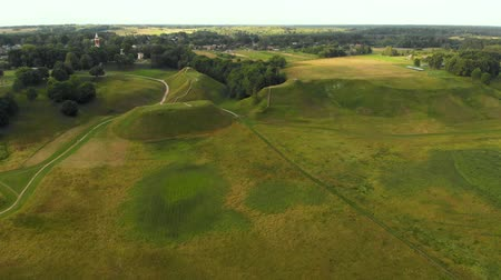 litvánia : Aerial view of Kernave Archaeological site