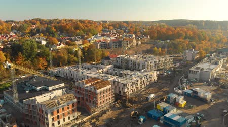 Aerial view of construction site in the city of Vilnius, Lithuania