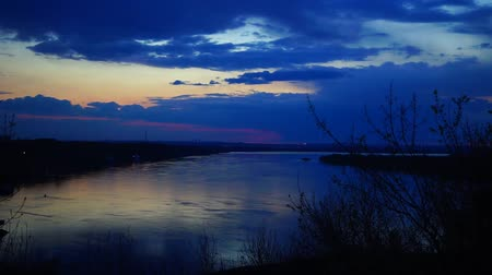 volga region : A beautiful sunset in Nizhny Novgorod region on the Volga river
